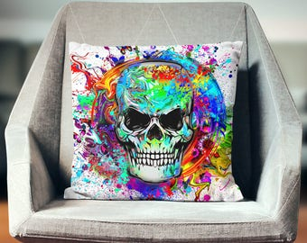 Skull Pillow   Skull Throw Pillow   Skull Bedding   Skull Gifts   Skull Decor   Skull Pillow Cover   Skull Decoration   Skull Cushion