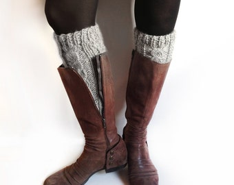 Hand Knitted Leg Warmers, Leg Warmers Womens, Alpaca Leg Warmers, Knitted Cuffs, Personalized Women, Womens Winter Dress 100% Baby Alpaca