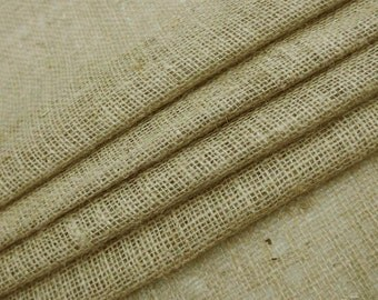 "Natural Fabric, Beige Burlap, Home Decor Fabric, Burlap Fabric, Sewing Fabric, Beige Fabric, 39"" Inch Fabric By The Yard ZJC13A"