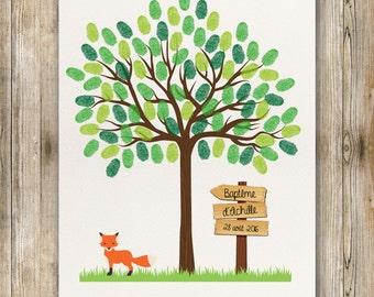 Tree prints for baptism, birthday - child