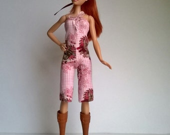 Barbie jumpsuit in Rosé with stag motives