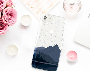 Mountains Case iPhone 6 Clear Case Stars iPhone 7 Case iPhone SE Case for Samsung Galaxy S7 Case iPhone 5s Case for Galaxy S6 Case 0136