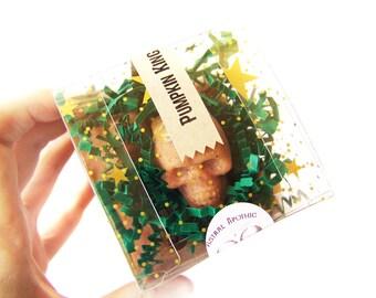 P u m p k i n  K i n g - Sugar Scrub Polishing Truffles - Coconut Oil Scrub - Handmade Body Scrub - Sugar Cube Scrub - Sulfate Free Skincare