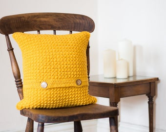 Mustard Yellow Cushion Cover, Mustard Living Room Decor, New Home Gift, Colourful Cushion, Mustard Pillow, Scatter Cushion, Bright Cushion
