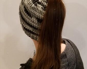 Reversible Messy Bun Hat Pattern
