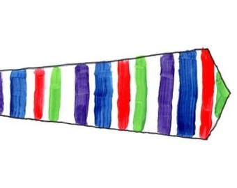 Custom hand painted tie!