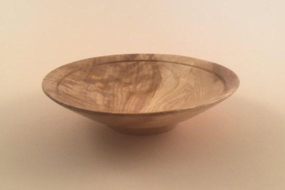 Oak wooden bowl decorative centerpiece wood gift christmas