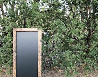 Rustic Chalkboard, Long Skinny Chalkboard, Long Chalkboard, Narrow Chalkboard, Thin Chalkboard, Large Chalkboard, Framed Chalkboard