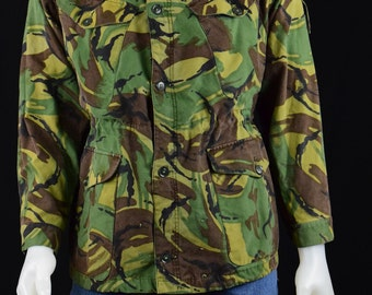 British Nato  Camo Camouflage Smock Jacket- Grunge Nato Combat Gear Jacket- Hiking Hunting Camo Outdoor Grunge Jacket Windproof - Size M