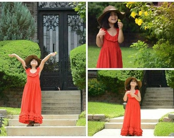Girls Ready To Ship Red Maxi Dress