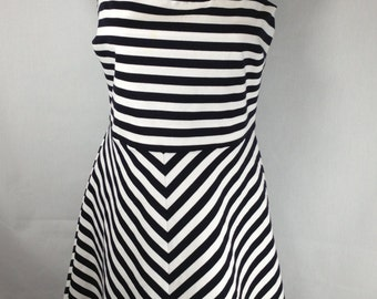 Chic dress, resort dress, striped dress, sleeveless dress, Micheal Kors