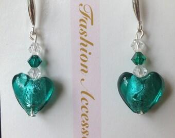 Swarovski crystal dangle earrings