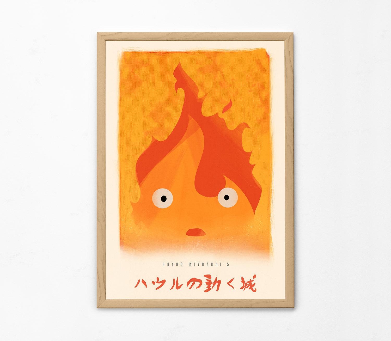 Howl's Moving Castle Minimal Poster Miyazaki Print