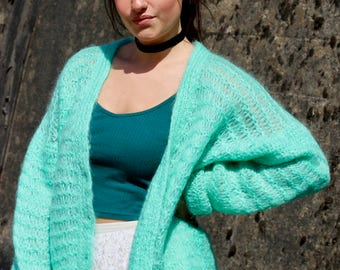 Vintage Open Knit Cardigan