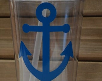 Nautical Anchor Personalized Tumbler Straw Cup- Sailor Tumbler Straw Cup- Ocean Tumbler Straw Cup- Beach Tumbler Straw Cup- Lake Tumbler Cup