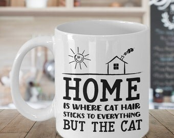 Cat Owner Gifts, Funny Cat Mug, Funny Cat Coffee Mug, New Homeowner Gift, Housewarming Mug, Cat Lover Gift Mug, Cat Mom Mug