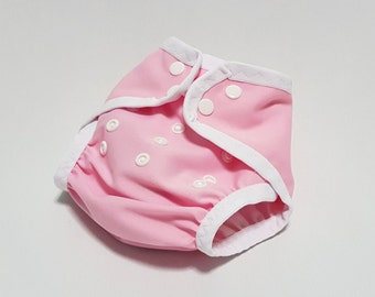 Cloth diaper cover | AI2 | all in two | one size | newborn | prefold | flat | fitted | soaker | nappy wrap | boy girl | pink white