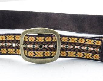 REWORKED 'Guitar Strap' Pattern Belt -- sizes S (32) & M (34) --> DEADSTOCK !