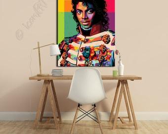 Tribute to Michael Jackson - FRAMED ART, personalized gift, name, City, Date, pop art, Wall Art, gift for women, gift for men