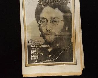 Rolling Stone Magazine 21/1-1971 John Lennon.
