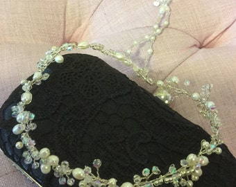 Back drop bridal necklace.