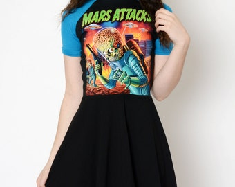 Mars Attack Altered Tee Baby Doll Dress