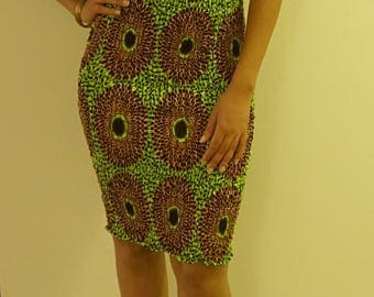 African print off the shoulder stretch bodycon dress
