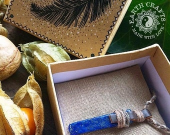 Medieval Lapis Lazuli & Hemp Necklace