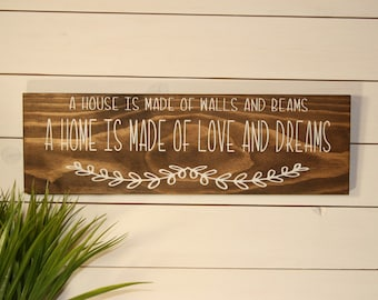 Home Sign, Wooden Sign, Home Quotes