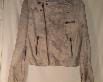 ANTHROPOLOGIE JAKETT Distressed Leather (Suede)Jacket Moto Style