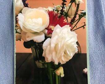 Stationary - white rose in vase