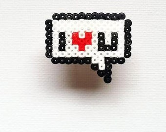 "Ring ""Love Collection"" my love / hama beads / pixel"