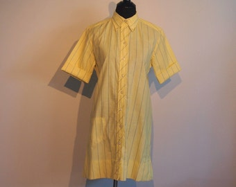 Vintage 1960's Shirt Dress; Women's Dress