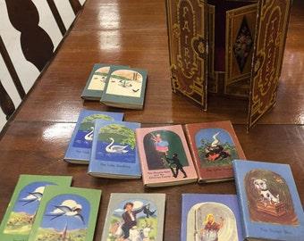 Hans Christian Andersen Miniature Christmas Fairytale Cardboard Cabinet and Stories