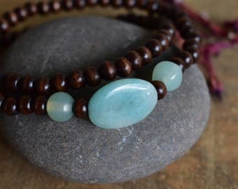 boho blue-green bead bracelet