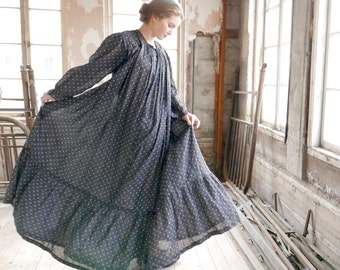 Victorian Morning Wrapper Workwear Maternity Day Dress XS