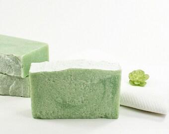 Clean Cotton Salt Soap | Sea Salt Soap, Cold Process Soap, Fresh Clean Scent, Natural Skincare, Relaxation Gift, Women Men Kids Bath Soap