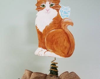 Cat Angel Tree Topper Calico Cat Angel Cat Memorial