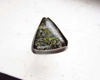 BENEATH THE TREES ||| Handmade Ring with Real Lichen - choose your stone - finished to your size