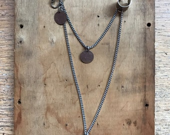 Cuff Earring // Coin Earrings // Silver Chains // Ear Cuff // Cuff to Post Earring // Boho Jewelry // Pirate Costume // Gypsy Jewelry