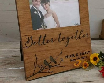 Personalized Wedding Picture Frame, Wedding Gift,Anniversary Couple Gift, Bridal Gift, Groom Gift, Personalized Picture Frame,