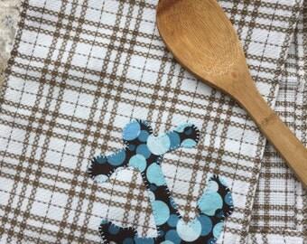 Anchor Handmade Kitchen Towel / Handmade Fabric Napkin / Fabric Placemat / Handmade Tea Towel / Nautical / Christmas Gift