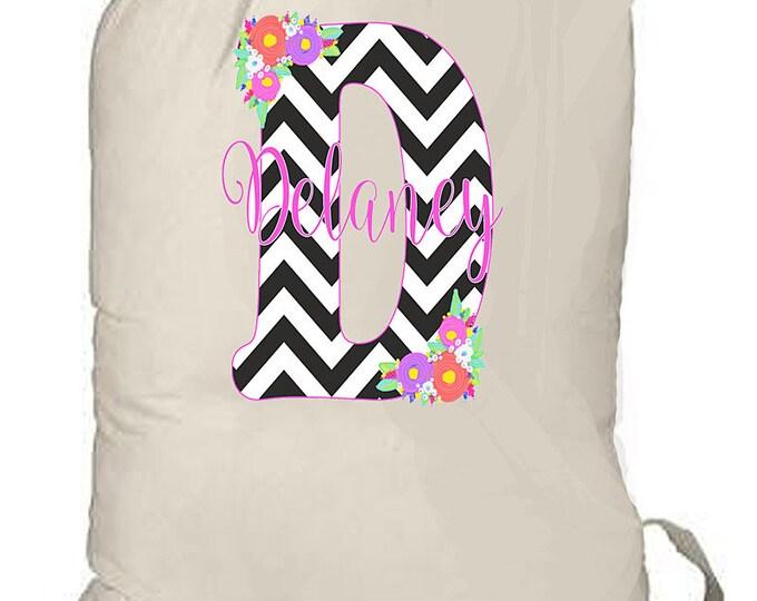 Monogrammed Laundry bag, large laundry bag, college laundry bag, travel laundry bag, dirty clothes bag, graduation gift, personalized gift