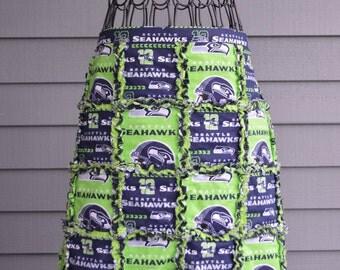 Seattle Seahawks Half Apron 100 percent cotton rag quilt