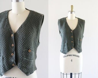 boxy cotton sweater vest top