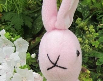 Pink Bunny Rabbit, Pink Fleece Bunny, Pink Fleece Rabbit, Cool Rabbit Toy, Cool Rabbit Toddler Toy, Cool Toy for Tots, Shower Basket Item,