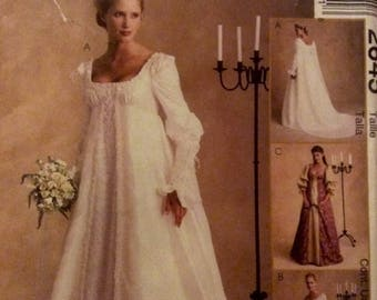 Sewing Pattern Empire Gown Dress Size 10 Classic Style Alicyn Exclusives 2000