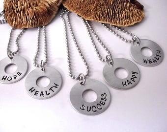 Inspirational Word Jewelry, Rustic Jewelry, Inspirational Jewelry, Inspiration, Good Vibes Jewelry, Word Jewelry, Intent Necklace