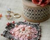 Granny Square Brooch,crocheted brooch,crochet brooch,crochet pin,granny brooch,unique accessory,crochet jewelry