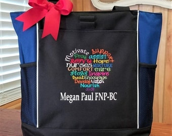 Nurse Tote Nursing Tote Bag Personalized Subway Art Tote
